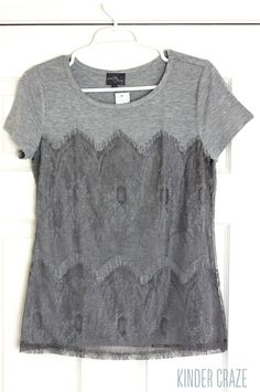 Memphis Lace Overlay Knit Shirt from Stitch Fix. Would love to try this top. Love that it's cotton and the lace detail takes it up a notch