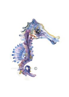 For an under the sea theme - Childrens Art - Animal Painting - - Watercolor Painting - Nursery Art Print- Sea Horse Nursery Paintings, Animal Paintings, Nursery Art, Nursery Ideas, Watercolor Portraits, Watercolor Paintings, Original Paintings, Watercolor Paper, Sea Theme