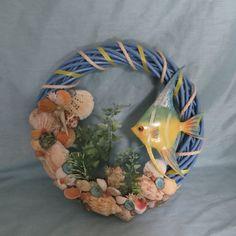 Tropical fish beach wreath_Beach home by CarmelasCoastalCraft