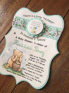 Classic Winnie The Pooh invitations/Classic Winnie The Pooh Baby Shower/winnie the pooh decorations/ Boy Baby Shower Themes, Baby Shower Invitations For Boys, Baby Shower Fun, Baby Shower Cakes, Baby Shower Parties, Baby Shower Decorations, Baby Boy Shower, Shower Party, Pooh Baby
