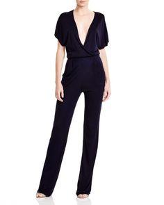 Hajotrawa Women Summer Long-Sleeve Clubwear Deep V-Neck Bodysuit Jumpsuits Rompers