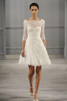 1950s 60s Vintage Lace Short Wedding Dress 3 4 Sleeve Size 8 10 12 14