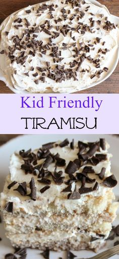 An Easy Tiramisu recipe, this is a no-bake, delicious Italian dessert, made with every kids (and maybe adults too!) favorite ingredient/anitalianinmykitchen.com