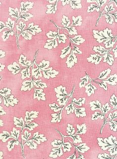 Meadow Leaf Cotton Curtain Fabric Mottled pink cotton fabric with white and black leaf print. Suitable for soft furnishings, curtains and upholstery.