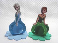 Porta Bombom vestido Frozen aplique - cortes para Montar - Petilola