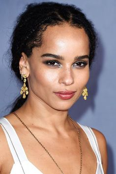Here's The Scoop On Zoë Kravitz's Badass Silver Eye Makeup #refinery29  http://www.refinery29.com/2015/10/96540/zoe-kravitz-silver-eye-makeup