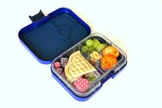 Yumbox Panino Tutti Frutti Packed School Lunch for Kids: 4-compartment Yumbox Panino offers more volume for sandwich/salads, sides and your favorite dip or treat.