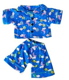 """Sunny Days Blue Pj's Teddy Bear Clothes Outfit Fits Most 14"""" - 18"""" Build-A-Bear, Vermont Teddy Bears, And Make Your Own Stuffed Animals, 2015 Amazon Top Rated Stuffed Animal Clothing & Accessories #Toy"""