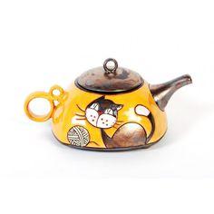 Tetera de cerámica divertida - Rozi Art Cerámica