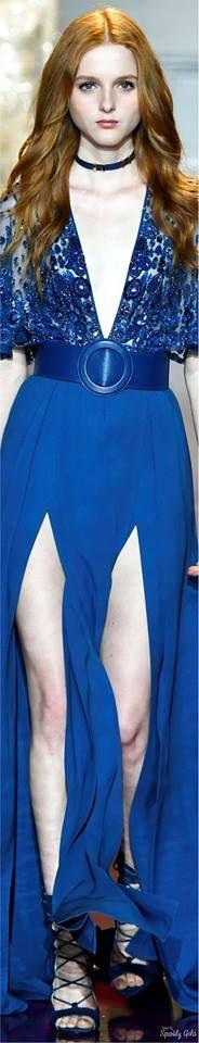 Blue Fashion, Fashion Week, High Fashion, Fashion Trends, Fashion 101, Zuhair Murad, Gala Dresses, Blue Dresses, Couture Dresses