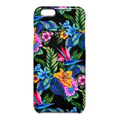 Jungle Vibe iPhone 6sケース by Polka Dot Studio, #tropical #jungle #flower #Hawaiian #art on #fashion #tech #iPhone #Samsung #phone #cases for #office #school #her #home or special #gift.