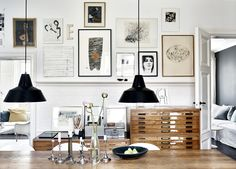 Design Secret Weapon: 10 Ways to Use Architectural Flat Files at Home // i want one in every room Decoration Inspiration, Interior Inspiration, Elle Decor, Home Interior, Interior And Exterior, Interior Modern, Decoracion Vintage Chic, Flat Files, Decor Scandinavian