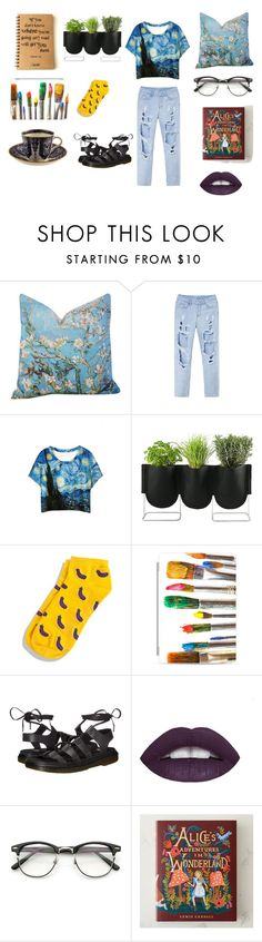 vincet and alice by matinaki-smile on Polyvore featuring WithChic, Dr. Martens, Casetify, ZeroUV and Authentics