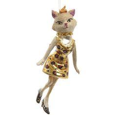 Елочная игрушка «Леди-кошка», 7*15 см, стекло, подвеска. Артикул: 121456 Цена:450 руб.  Ожидается поступление товара  Размер: 7*15 см Материал: стекло Подвеска поставляется в индивидуальной коробке