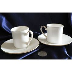 Queen's Fine Bone China - Coffee Cans and Saucers x 2