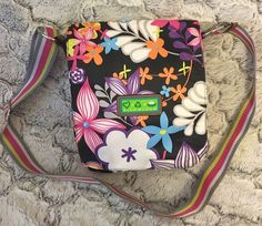 Lily Bloom Floral Crossbody Bag Shoulder Purse Striped Strap Fun Colorful Gift #LilyBloom #MessengerCrossBody