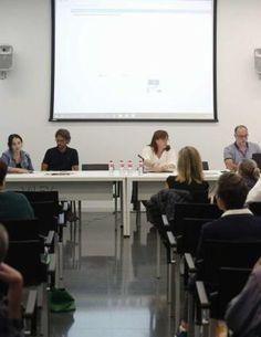 Los ponentes, ayer, en la jornada sobre patrimonio industrial.