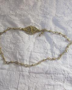 ceinture vintage fil d'or par lecoindantant sur Etsy