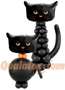 halloween black cat balloon column