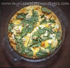 sweet potato, feta, and spinach frittata (low fodmap)