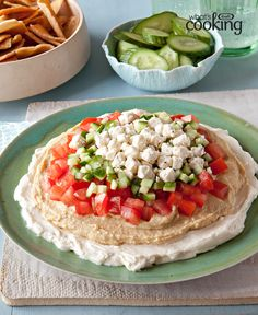 Mediterranean Layered Dip #recipe