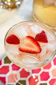 Elderflower Champagne Cocktail  Serves 8  1 (750-ml) bottle Brut champagne or dry sparkling wine, chilled 1 cup of elderflower liqueur,...