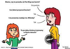 """Komiks """"Czy prezenty rozdaje św.Mikołaj?"""" (źródło: http://kuku.pl)"""