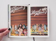 paislee press - Oahu 2014 Moleskine Photo Notebook, layflat binding, 96 pages