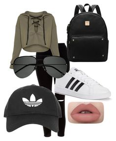 """""""Im tired"""" by mariee on Polyvore featuring New Look, adidas, Yves Saint Laurent and Topshop"""
