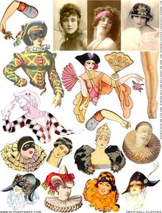 Deco Doll Clothes Collage Sheet