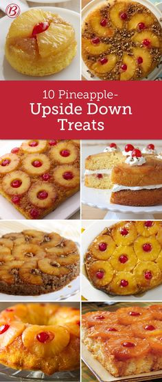 A classic this good deserves to be made in as many ways as possible. Try all of these creative spins on pineapple upside-down cake and find your favorite! There's a pineapple-upside down treat for everyone!