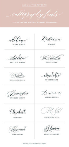 Want to know the secret to DIY wedding invitations that don't look DIY? The font! Here are the best fonts for wedding invitations that won't break the bank. #weddinginvitation