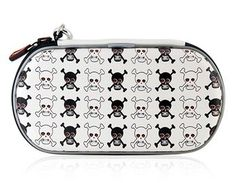 Skull Pattern Hard Pouch for PSP3000 White *** Want additional info? Click on the image.