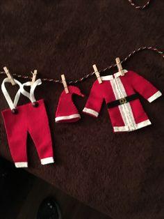 Mini Santa clothes, felt, Christmas mini clothes