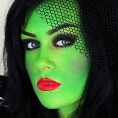 einmalige halloween schminken ideen grünes gesicht