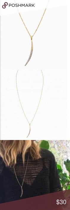 "Stella and Dot New Moon Necklace 24"" with 4"" extender. Excellent condition. Stella & Dot Jewelry Necklaces"