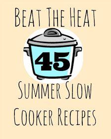The Thriftiness Miss: Summer Slow Cooker Recipes - easy crockpot Crock Pot Food, Crock Pot Freezer, Crockpot Dishes, Crock Pot Slow Cooker, Freezer Meals, Slow Cooker Recipes, Cooking Recipes, Crockpot Meals, Crock Pots
