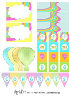 oh the places youll go baby shower cupcakes | Oh The Places Youll Go Printable Package by Meghilys on Etsy