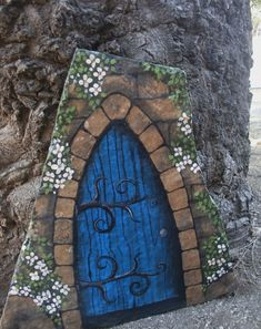 Image result for fairy door painted rocks