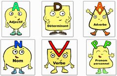 """personnages """"nature des mots"""" Core French, French Expressions, French Resources, Cycle 3, France, Literacy, Homeschool, Playing Cards, Animation"""