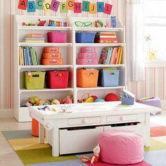 Çocuk odasını düzenleyen çocuk odası raf modelleri fikirlerini sizler için araştırdım. Odayı düzene sokacak raf modelleri için tıklayın. Baby Play, Playroom Ideas, Playroom Storage, Toy Storage, Storage Baskets, Kids Storage, Storage Ideas, Organized Playroom, Cube Storage