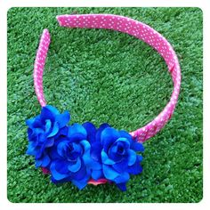 JESSICA REVERSIBLE FLORAL HEADBAND by Sweet As Candy Vintage