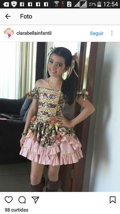 Vestido junino Kids Wear, Hijab Fashion, Formal Dresses, Womens Fashion, Party, How To Wear, Party Fashion, Ethnic Dress, Dressmaking