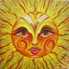 SOL - Tinta acrílica sobre tela 20 x 20