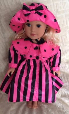 Items similar to American Girl Raincoat on Etsy American Girl Doll Videos, American Girl Doll Pictures, American Girl Doll Samantha, American Girl Dress, Girls Dresses, Doll Dresses, Summer Dresses, Girl Doll Clothes