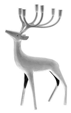 Silvered Reindeer Candleholder by Pentik Scandi Christmas, Christmas Deer, Xmas, Book Display Shelf, Nordic Design, Scandinavian Home, Marimekko, Winter Holidays, Home Deco