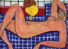 Pink Nude, 1935 by Henri Matisse. Expressionism. nude painting (nu). The Baltimore Museum of Art, Baltimore