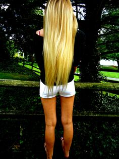 very long hair with amazing color