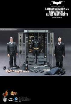 Hot Toys The Dark Knight - Bat Armory (With Bruce Wayne & Alfred Pennyworth) - Photos - Collectibly