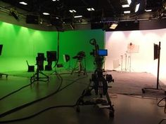 Our new Studio e with green screen, white cyc, jib arm and 4 Hi Def cameras Vintage Screen Doors, Old Screen Doors, Front Door With Screen, Patio Privacy Screen, Four Seasons Room, Screened In Deck, Screen House, Door Paint Colors, Sound Stage